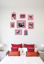 Pink Wall Sticker Frame Set