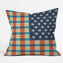 Plaid Flag Throw Pillow