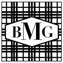 Plaid Monogram Personalized Self-Inking Stamp