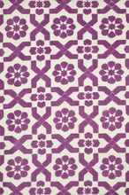 Plum Fairies Geo Piper Rug