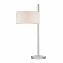 Polished Nickel Floor Lamp With Off Centre Shade