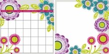 Poppy Dry-Erase Calendar & Board Set