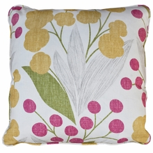 Poppy Raspberry Throw Pillow