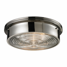 Porthole Flushmount In Polished Nickel