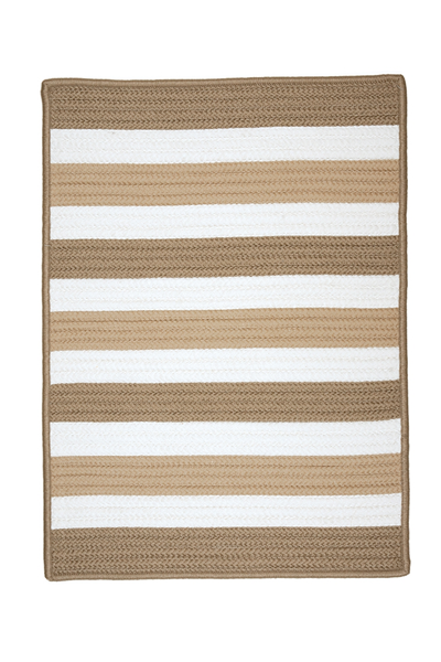 District17 Portico Rug in Sand Striped RugsBraided Rugs