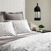 Porto Grey Duvet Cover