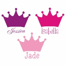 Princess Crown Personalized Car Decal