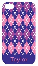 Purple Argyle iPhone Case