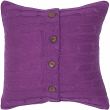 Purple Cable Knit Throw Pillow