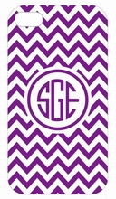 Purple Chevron iPhone Case