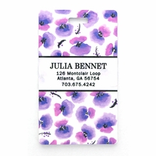 Purple Pansy Personalized Luggage Tag Set