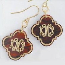 Quatrefoil Arabesque Acrylic Earrings