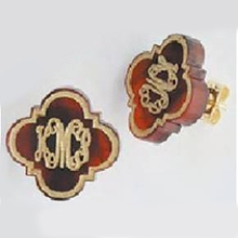 Quatrefoil Arabesque Acrylic Stud Earrings