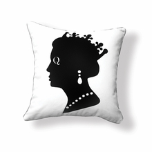 Queen Reversible Throw Pillow in Black and White