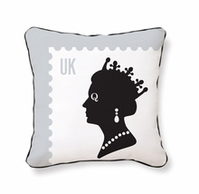 Queen Stamp Reversible Throw Pillow