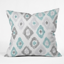 Quiet Ikat Throw Pillow
