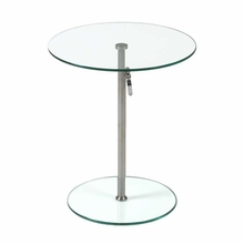 Radinka Side Table in Clear Glass and Stainless Steel