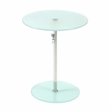 Radinka Side Table in Frosted Glass and Stainless Steel