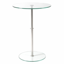 Raina Side Table in Clear Glass and Stainless Steel