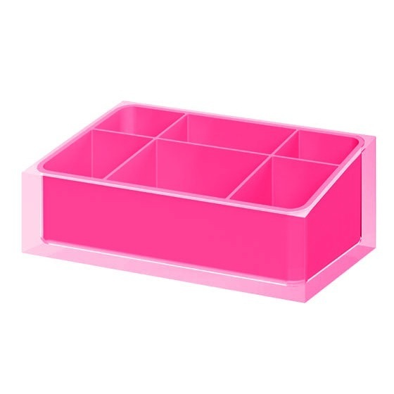 District17 Rainbow Makeup Tray In Hot Pink Bathroom Accessories