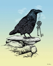 Raven Keys Canvas Wall Art