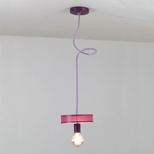 Ray Hanging Pendant with Vinyl Shade