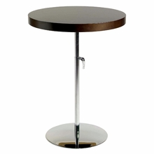 Raymond Side Table in Wenge and Chrome