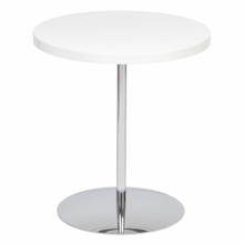 Raymond Side Table in White Lacquer and Chrome