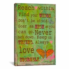 Reach Within Canvas Wall Art
