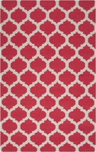 Red and Oatmeal Trellis Frontier Rug