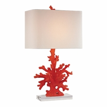 Red Coral Table Lamp