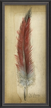 Red Feather Framed Wall Art
