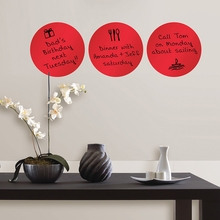 Red Hot Dry-Erase Dot Wall Decals