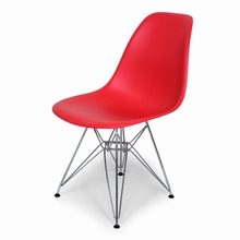 Red Mid-Century Eiffel Dining Chair