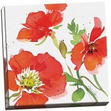 Red Poppies I Canvas Wall Art