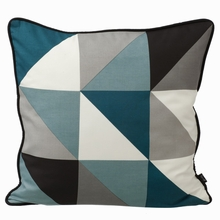 Remix Silk Pillow in Blue