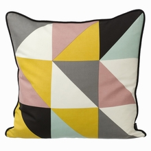 Remix Silk Pillow in Yellow
