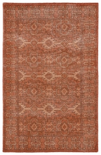 Restoration Tribal Flatweave Rug in Paprika