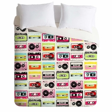 Retro Cassettes Lightweight Duvet Cover