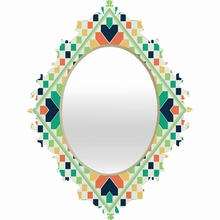 Retrographic Rainbow Baroque Mirror