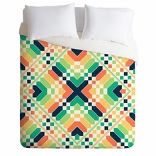Retrographic Rainbow Lightweight Duvet Cover