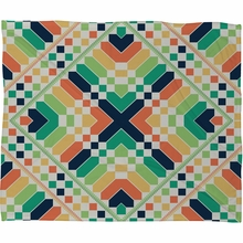 Retrographic Rainbow Fleece Throw Blanket