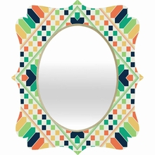 Retrographic Rainbow Quatrefoil Mirror