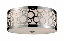 Retrovia Three Light Flush Mount in Polished Nickel