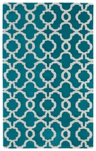 Revolution Lattice Rug in Teal