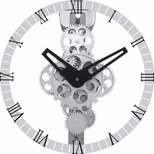 Revolution Moving Gear Wall Clock with Glass Cover