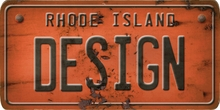 Rhode Island Custom License Plate Art