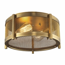 Rialto Flush Mount In Aged Brass