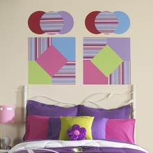 Ribbon Candy Blox Wall Decals - Blue