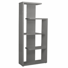 Robbie Shelving Unit in Gray Lacquer